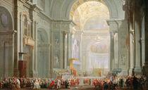Interior of a St. Peter's von Giovanni Paolo Panini