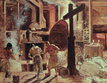 The Steelworks  by Constantin Emile Meunier