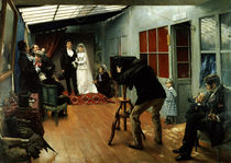 Wedding at the Photographer's by Pascal Adolphe Jean Dagnan-Bouveret
