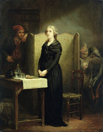 Queen Marie Antoinette in the Conciergerie: The Prayer Table von Charles Louis Lucien Muller