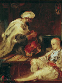 Interior of the Workshop of an Arab Tailor  by Eugene Fromentin