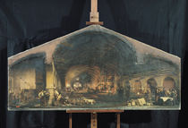 Interior of the Forge at Fourchambault  von Ignace Francois Bonhomme
