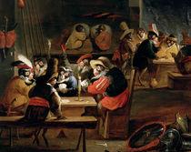 Monkeys in a Tavern by Ferdinand van Kessel