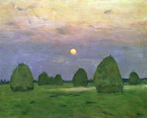 Hayricks at Dusk von Isaak Ilyich Levitan