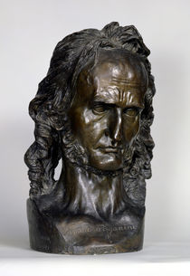 Bust of Nicolo Paganini  by Pierre Jean David d'Angers