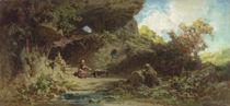 A Hermit in the Mountains  by Karl Spitzweg