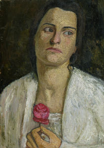 The Sculptress Clara Rilke-Westhoff  by Paula Modersohn-Becker