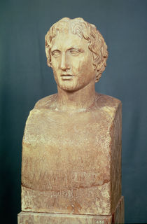 Portrait bust of Alexander the Great  by Lysippos