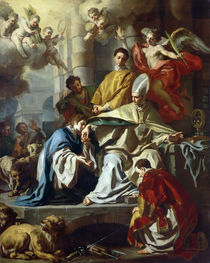 St. Januarius visited in prison by Proculus and Sosius  von Francesco Solimena