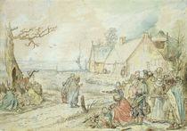 Landscape with Gypsy Fortune-Tellers  von Hendrik Avercamp