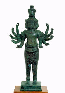 Shiva with many arms and heads von Cambodian