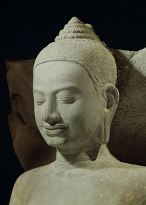 Buddha in Meditation on the Naga King by Cambodian
