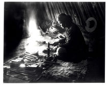 Navaho silversmith by William J. Carpenter