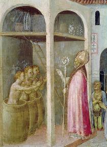 St. Nicholas Resuscitates the Three Children Thrown into Brine Tubs by Gentile da Fabriano