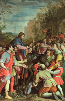 The Entry of Christ into Jerusalem  by Santi di Tito