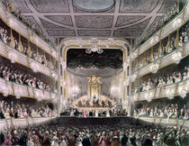 Covent Garden Theatre von T. Rowlandson