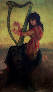 Muse Playing the Harp  by Antoine Auguste Ernest Herbert or Hebert