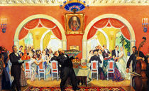Wedding Feast by Boris Mikhailovich Kustodiev