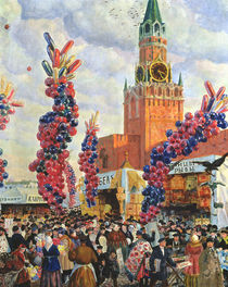 Easter Market at the Moscow Kremlin von Boris Mikhailovich Kustodiev