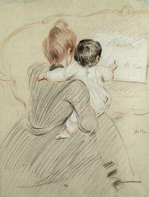 Madame Paul Helleu and her Daughter Paulette von Paul Cesar Helleu