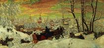 Arriving for Shrove-tide von Boris Mihajlovic Kustodiev