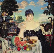 The Merchant's Wife at Tea von Boris Mihajlovic Kustodiev