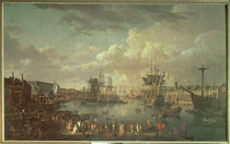 View of the Port at Brest  von Jean-Francois Hue
