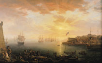 View of Brest Harbour von Jean-Francois Hue