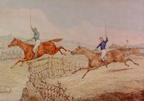 Jumping a Fence  von Henry Thomas Alken