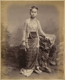 Young Burmese girl by Philip Adolphe Klier