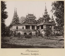 Teik Kyaung monastery by Philip Adolphe Klier