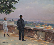 Paris from the observatory at Meudon  by Jules Ernest Renoux