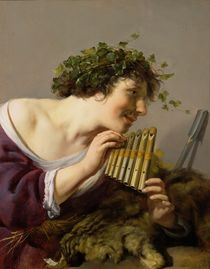 Pan Playing his Pipes  by Paulus Moreelse
