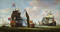 The Arrival of Michiel Adriaanszoon de Ruyter  by Abraham Storck