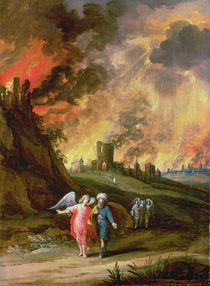 Lot and His Daughters Leaving Sodom  von Louis de Caullery