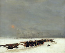 The War of 1870-71: An Infantry Column on their Way to a Raid by Jean-Baptiste Edouard Detaille
