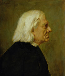 The Composer Franz Liszt  by Franz Seraph von Lenbach