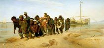 The Boatmen on the Volga by Ilya Efimovich Repin
