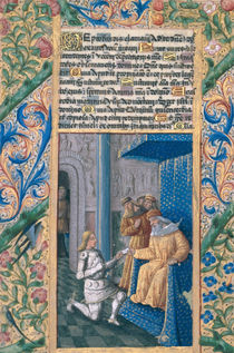 Ms Lat. Q.v.I.126 f.58v David sending Uriah to his death by Jean Colombe