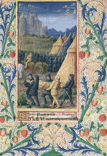 Ms Lat. Q.v.I.126 f.64 The death of Absalom von Jean Colombe