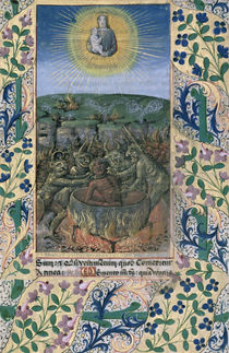 Ms Lat. Q.v.I.126 f.74 The torments of hell von Jean Colombe