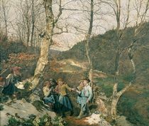Early Spring in the Vienna Woods  von Ferdinand Georg Waldmuller