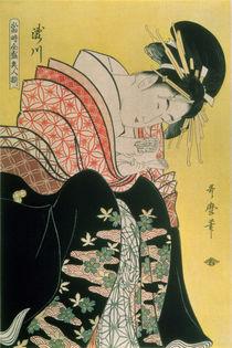 Takigawa from the Tea-House von Kitagawa Utamaro