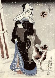 Winter by Utagawa Kunisada