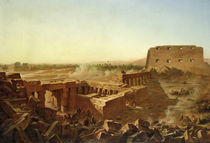 The Battle at the Temple of Karnak: The Egyptian Campaign  von Jean Charles Langlois