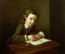 Boy Drawing at a Table  by Philippe Mercier
