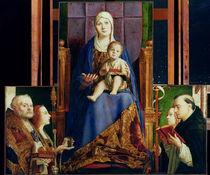Madonna with Saint Nicholas of Bari  by Antonello da Messina