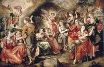 The Wise and the Foolish Virgins  von Marten de Vos
