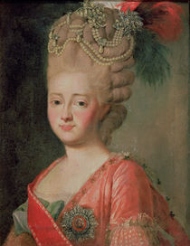 Portrait of Empress Maria Fyodorina  by Alexander Roslin