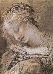 Head of the Virgin  von Pierre-Paul Prud'hon